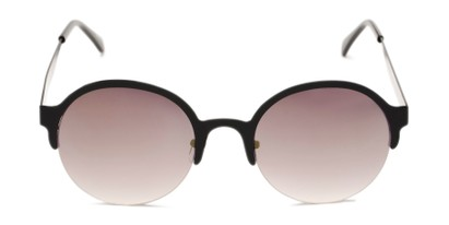 Front of Margot #3833 in Black Frame with Smoke Mirrored Lenses