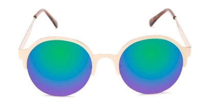 Front of Margot #3833 in Gold Frame with Blue/Green Mirrored Lenses