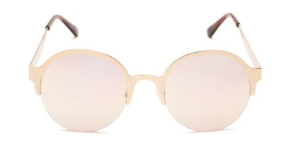 Front of Margot #3833 in Gold Frame with Pink Mirrored Lenses