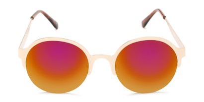 Front of Margot #3833 in Gold Frame with Red/Orange Mirrored Lenses