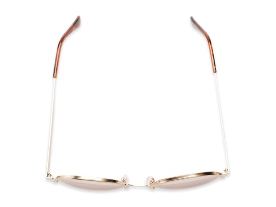 Overhead of Margot #3833 in Gold Frame with Pink Mirrored Lenses