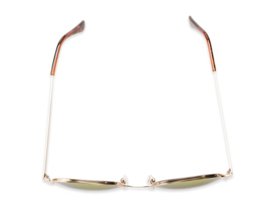 Overhead of Margot #3833 in Gold Frame with Red/Orange Mirrored Lenses