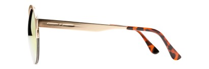 Side of Margot #3833 in Gold Frame with Red/Orange Mirrored Lenses