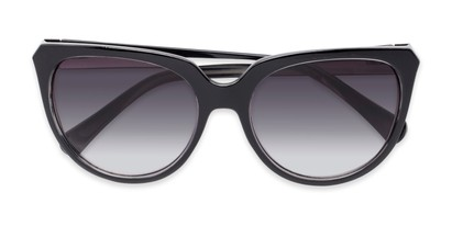 Folded of Marion #32095 in Black/Clear Frame with Smoke Lenses