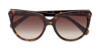 Folded of Marion #32095 in Tortoise Frame with Amber Lenses