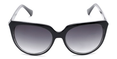 Front of Marion #32095 in Black/Clear Frame with Smoke Lenses