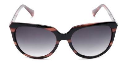 Front of Marion #32095 in Black/Purple Striped Frame with Smoke Lenses