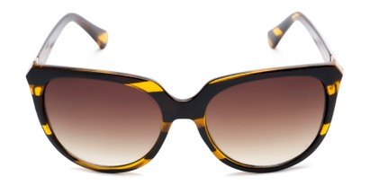 Front of Marion #32095 in Black/Yellow Striped Frame with Amber Lenses