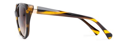 Side of Marion #32095 in Black/Yellow Striped Frame with Amber Lenses
