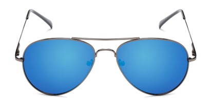 Front of Miami #1285 in Grey Frame with Blue Mirrored Lenses