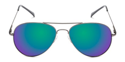 Front of Miami #1285 in Grey Frame with Green/Purple Mirrored Lenses