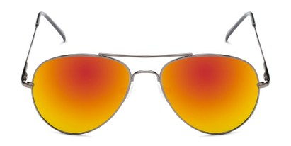 Front of Miami #1285 in Grey Frame with Red/Orange Mirrored Lenses