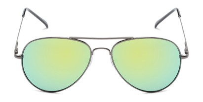 Front of Miami #1285 in Grey Frame with Yellow/Green Mirrored Lenses