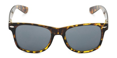 Front of Michigan #1608 in Tan Tortoise Frame with Grey Lenses