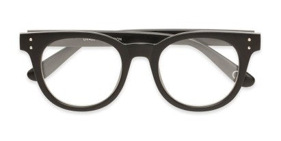 Folded of Midland #7129 in Matte Black with Clear Lenses