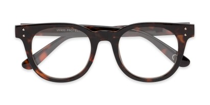 Folded of Midland #7129 in Tortoise Frame with Clear Lenses