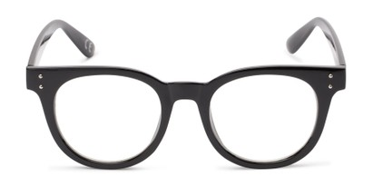 Front of Midland #7129 in Glossy Black Frame with Clear Lenses