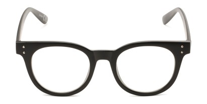 Front of Midland #7129 in Matte Black with Clear Lenses