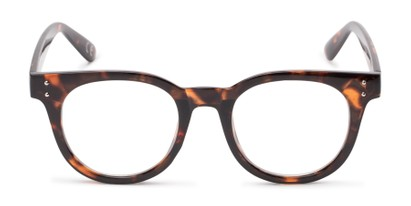 Front of Midland #7129 in Tortoise Frame with Clear Lenses