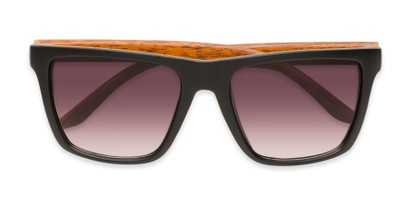 Folded of Miller #54099 in Black/Brown Frame with Smoke Lenses
