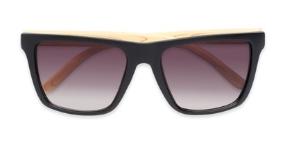 Folded of Miller #54099 in Black/Tan Frame with Smoke Lenses