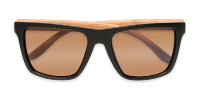 Folded of Miller #54099 in Black/Light Brown Frame with Light Amber Lenses