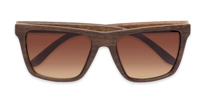 Folded of Miller #54099 in Brown Frame with Amber Lenses