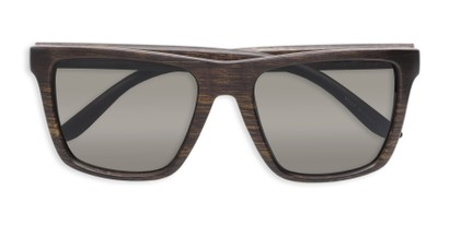 Folded of Miller #54099 in Brown Frame with Grey Lenses