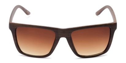 Front of Miller #54099 in Brown Frame with Amber Lenses