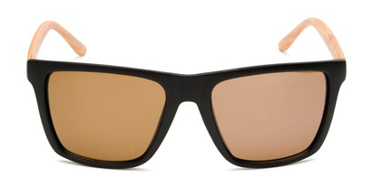 Front of Miller #54099 in Black/Light Brown Frame with Light Amber Lenses