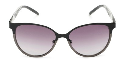 Front of Mira #5060 in Black/Grey Frame with Smoke Gradient Lenses