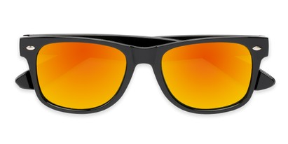 Folded of Mirage in Black Frame with Orange Mirrored Lenses