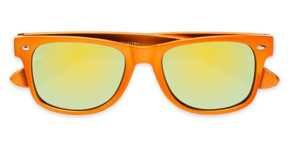 Folded of Mirage in Orange Frame with Yellow Mirrored Lenses