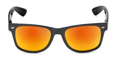 Front of Mirage in Black Frame with Orange Mirrored Lenses