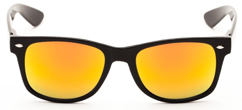 Colored Mirror Sunglasses  multi colored mirrored wayfarer style sunglasses