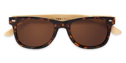 Folded of Mohawk #1462 in Tortoise Frame with Brown Lenses