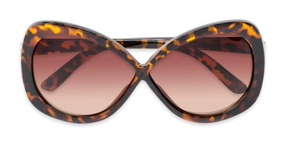 Folded of Monarch #5660 in Brown Tortoise Frame with Amber Lenses