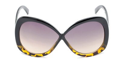 Front of Monarch #5660 in Black/Brown Tortoise Fade Frame with Smoke Lenses