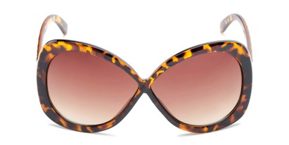 Front of Monarch #5660 in Brown Tortoise Frame with Amber Lenses