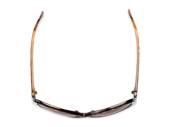 Overhead of Monarch #5660 in Brown Tortoise Frame with Amber Lenses