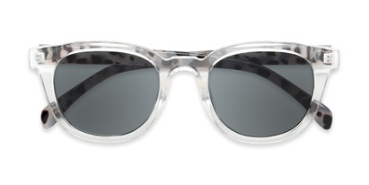 Folded of Myth #16091 in Clear/Grey Tortoise Frame with Grey Lenses