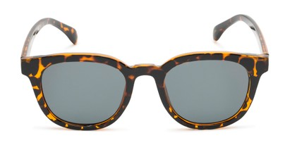 Front of Myth #16091 in Tortoise Frame with Grey Lenses