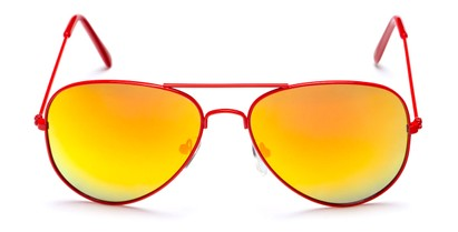 Neon Aviators with Mirrored Lenses