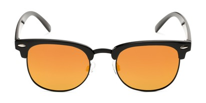 Front of Nairobi #8387 in Black/Grey Frame with Orange Mirrored Lenses
