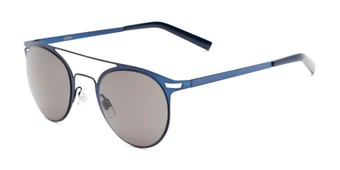 Angle of Nantucket #25014 in Matte Blue with Smoke Lenses, Women's and Men's Aviator Sunglasses