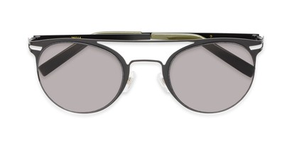 Folded of Nantucket #25014 in Matte Black with Smoke Lenses