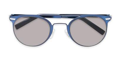 Folded of Nantucket #25014 in Matte Blue with Smoke Lenses
