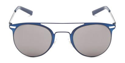 Front of Nantucket #25014 in Matte Blue with Smoke Lenses