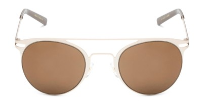 Front of Nantucket #25014 in Matte Gold with Amber Lenses