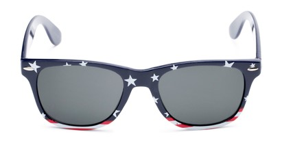 Front of Nation #9304 in Blue/Bottom Striped Frame with Grey Lenses